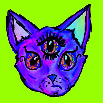 Third Eye Cat God by kassidycoleman