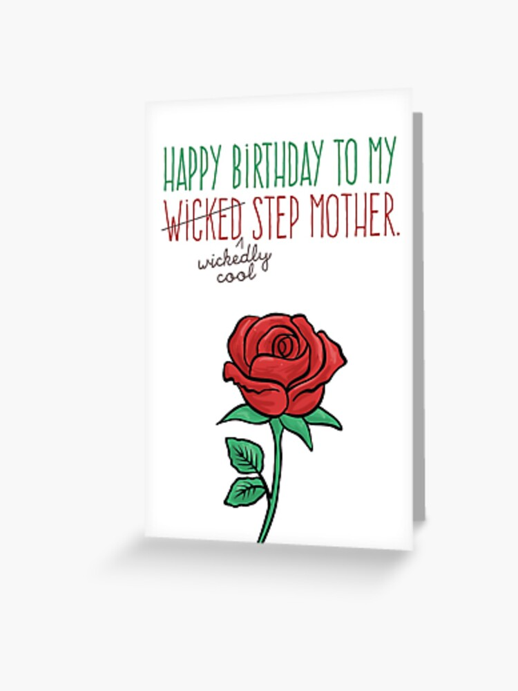 Surprising Happy Birthday Step Mother Funny Wicked Wickedly Cool Personalised Birthday Cards Veneteletsinfo