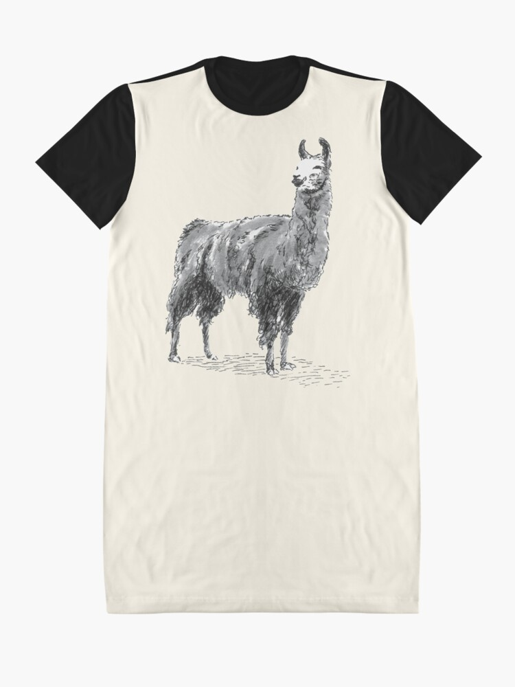 Alternate view of Happy Llama Graphic T-Shirt Dress