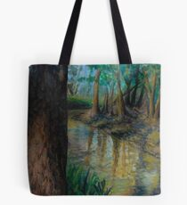Trees and River Tote Bag