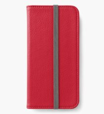 Christmas Red Poinsettia iPhone Wallet/Case/Skin