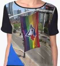 Toronto Blue Jays Pride Flag Chiffon Top