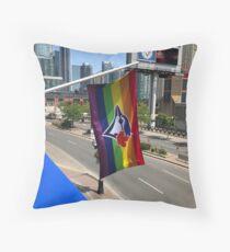 Toronto Blue Jays Pride Flag Throw Pillow