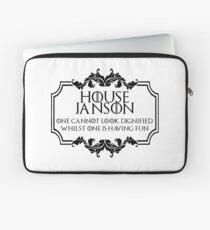 House Janson (black text) Laptop Sleeve