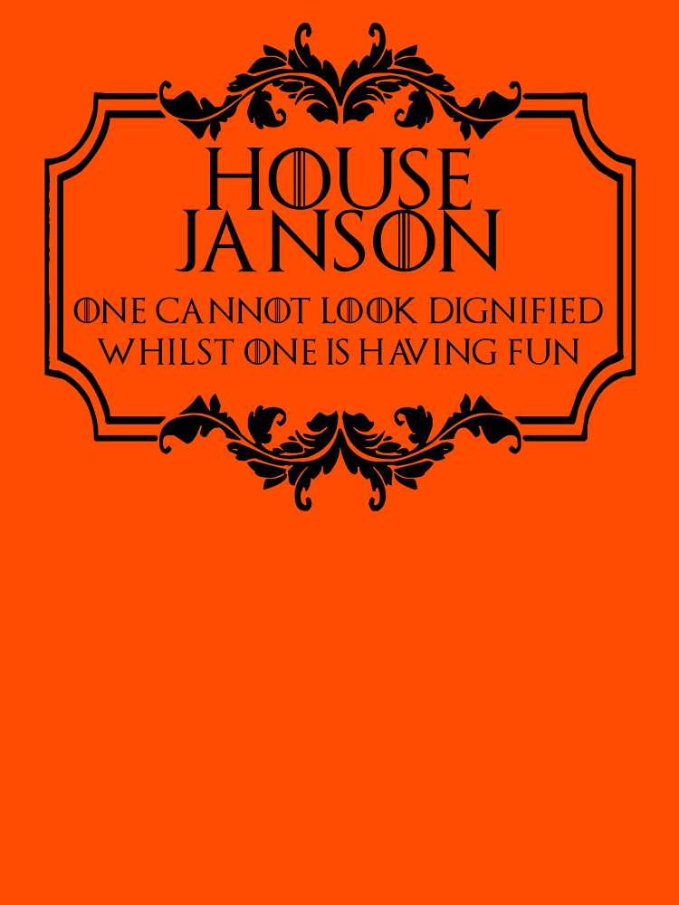 House Janson (black text) by houseorgana