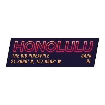 Honolulu - NEON  by JamesShannon