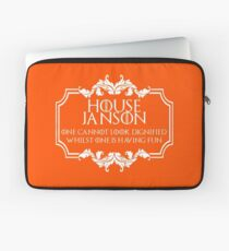 House Janson (white text) Laptop Sleeve