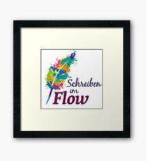 Schreibrausch - Schreiben im Flow Gerahmtes Wandbild