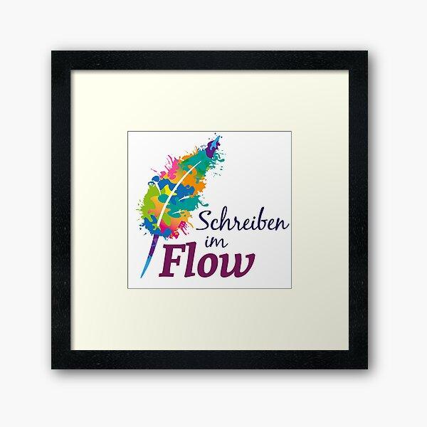 Schreibrausch - Schreiben im Flow Gerahmter Kunstdruck
