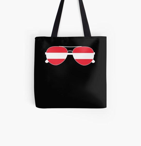 Canvas Shopping Tote Bag I Love My Austrian Boyfriend Countries Austrian Heart Flag Beach for Women
