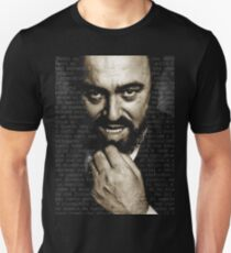 Luciano Pavarotti Italien Geschenk Slim Fit T-Shirt