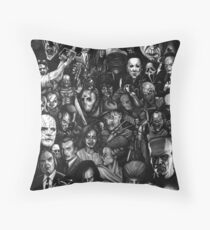 Best Classic Horror Movies Throw Pillow