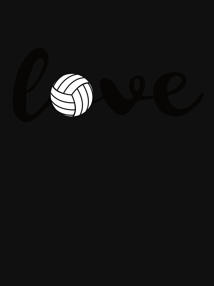 Love Volleyball T Shirt Sports Fans Volleyball Players Gift by davdmark