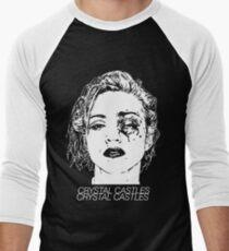 Crystal Castles (Black) Men's Baseball ¾ T-Shirt