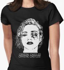 Crystal Castles (Black) Women's Fitted T-Shirt