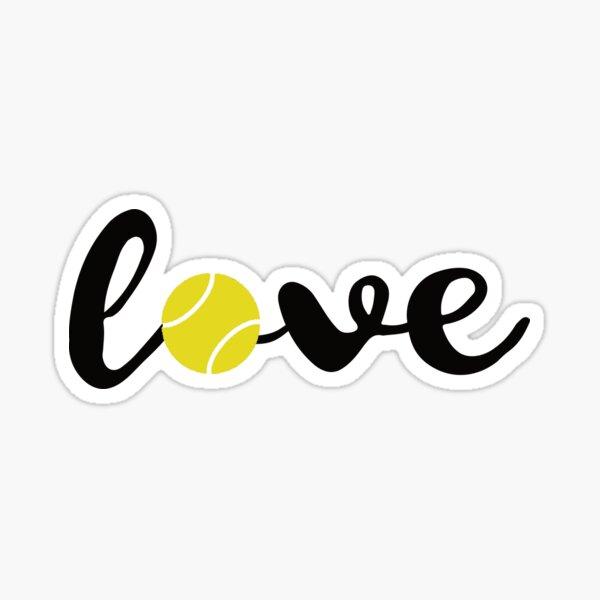 Love Tennis T Shirt Sports Fans Tennis Players Gift Tee Sticker