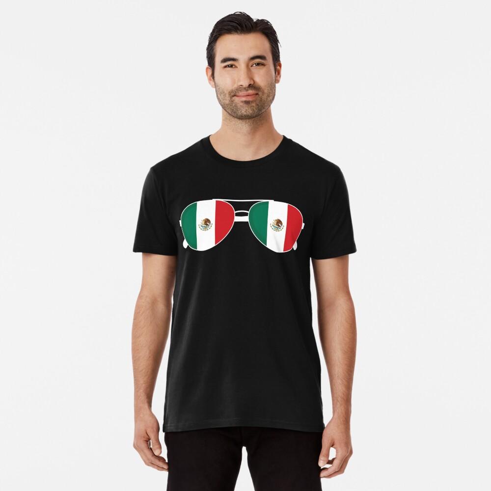 Mexikanische Flagge Mexiko Sonnenbrille Shirt Mexikanische Flagge Mexiko T-Shirt Premium T-Shirt