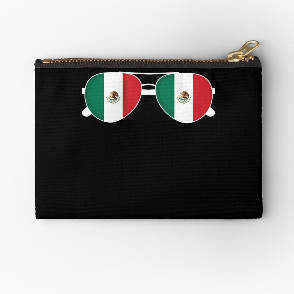 Mexikanische Flagge Mexiko Sonnenbrille Shirt Mexikanische Flagge Mexiko T-Shirt Täschchen