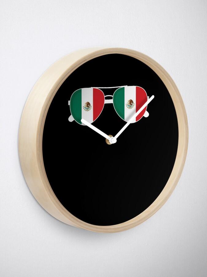 Alternative Ansicht von Mexikanische Flagge Mexiko Sonnenbrille Shirt Mexikanische Flagge Mexiko T-Shirt Uhr