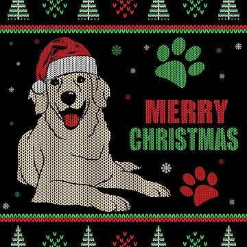 Ugly Christmas Style Golden Retriever by EstelleStar