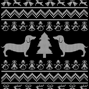 Dachshund Doxie Ugly Christmas Style Design by EstelleStar
