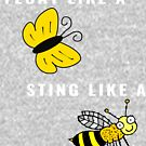 Float Like A, Sting Like A - Cute Boxing Design (Design Day 223) by TNTs