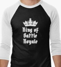 King of Battle Royale with crown in white Men's Baseball ¾ T-Shirt