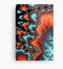 Red and Blue Mandelbrot Fractal Metal Print