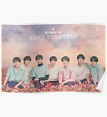 BTS (방탄 소년단) LOVE YOURSELF TOUR DU MONDE Poster