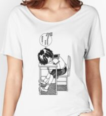 Nazo no Kanojo X (Mysterious Girlfriend X) Sleeping Urabe Women's Relaxed Fit T-Shirt