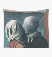 the lovers - magritte Wall Tapestry