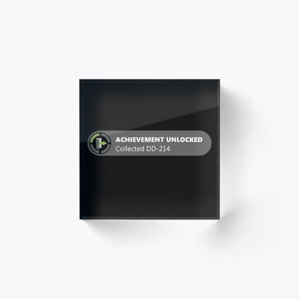 Achievement Unlocked DD-214  Acrylic Block