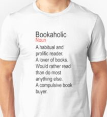 Bookaholic Definition Lover of Books Unisex T-Shirt