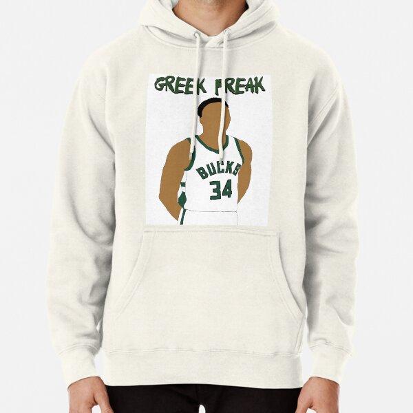 "Giannis Antetokounmpo Milwaukee Bucks /""Greek Freak/""  Hooded SWEATSHIRT HOODIE"