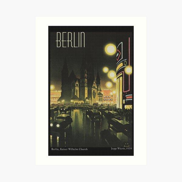 Berlin at Night, 1939 Art Print