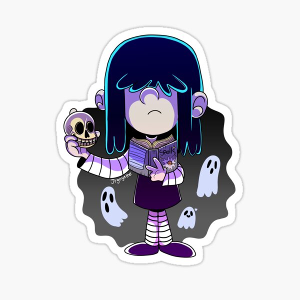 The Loud House Lucy Loud with Spell book and Skull Sticker