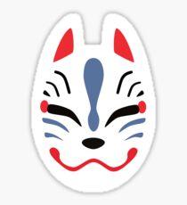 Japanese Fox Mask Sticker