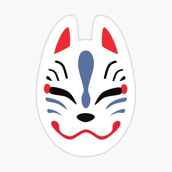 Máscara japonesa de zorro Pegatina
