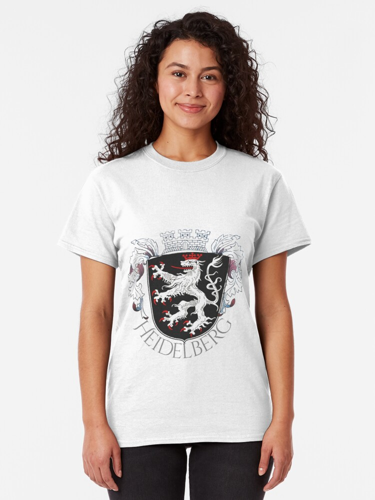 Alternate view of Heidelberg Coat of Arms with embellishment Classic T-Shirt