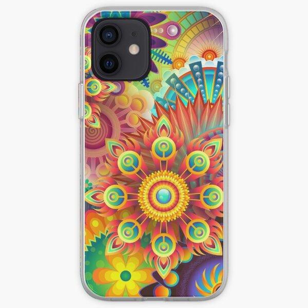 Abstracto colorido Funda blanda para iPhone