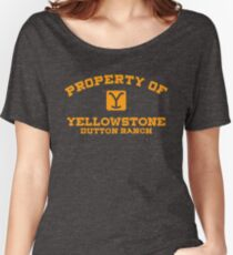 Property of Yellowstone Dutton Ranch Women's Relaxed Fit T-Shirt
