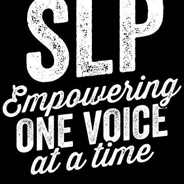 Empower One Voice At A Time Shirt for SLP Speech Therapy by 14thFloor