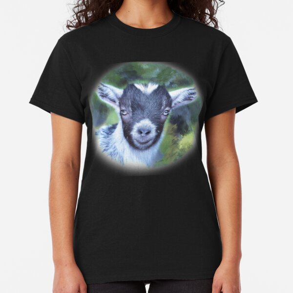 Portrait of a Goat - Pygmy Kid Classic T-Shirt