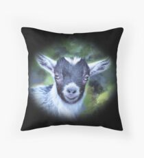 Portrait of a Goat - Pygmy Kid Floor Pillow