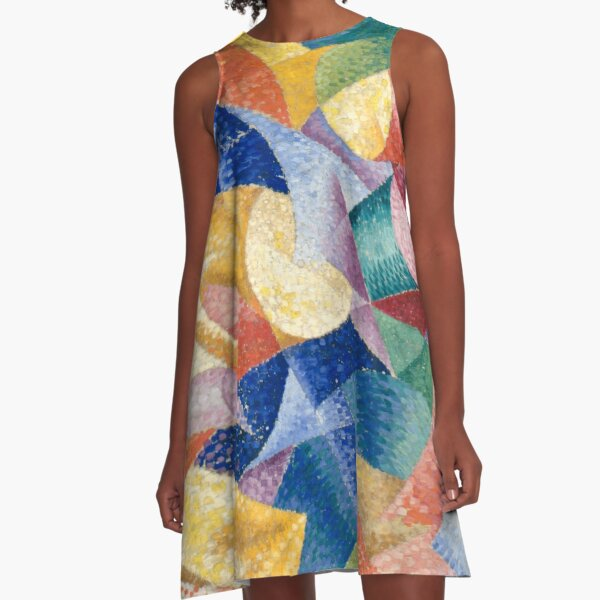 #Artist, #painter, #craftsman, #Gino #Severini, #futurism, #futurist, #art, #GinoSeverini A-Line Dress