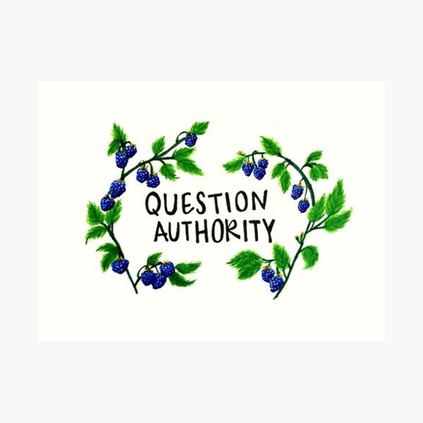 cuestiona a la autoridad Lámina artística