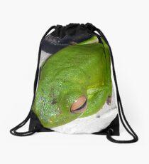 JUST WAITING Drawstring Bag