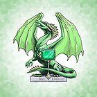 May Emerald Dragon Birthstone Illustration by Stephanie Smith