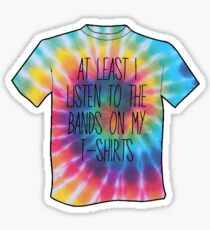 Band T-Shirts Tie-Die Shade Sticker