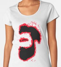 Man vector red and black silhouette Women's Premium T-Shirt